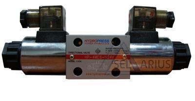 Фото гидрораспределителя с электроуправлением - DN06, схема