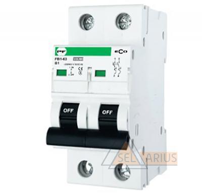 Модульный автоматический выключатель FB1-63 ECO 2P B5 - фото
