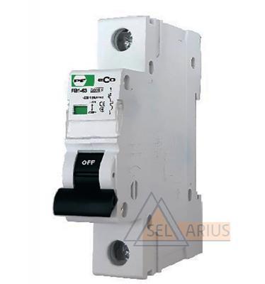 Модульный автоматический выключатель FB1-63 ECO 1P B5 - фото