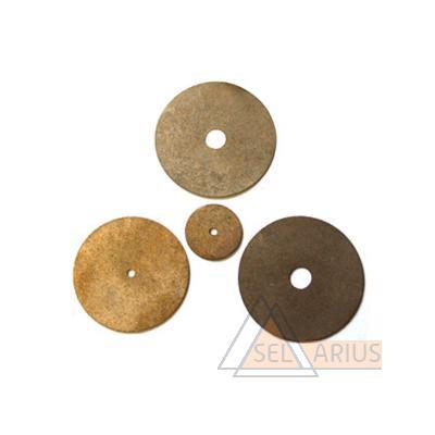 Фото спеченных эльборовых дисков d 50 мм толщина 0,15 мм