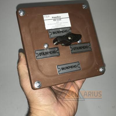 Коробка протяжная с выключателем КВ фото 1