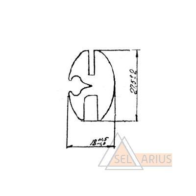 Окантовка Э83651.01.03 - габаритный чертеж