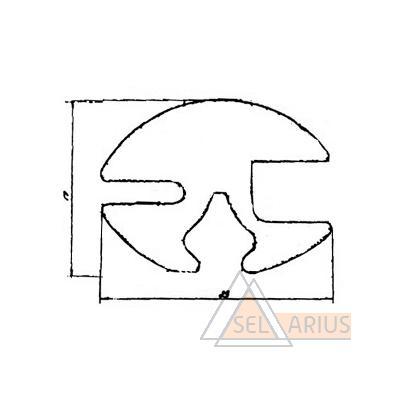 Профиль оконный НТ-9 - габаритный чертеж