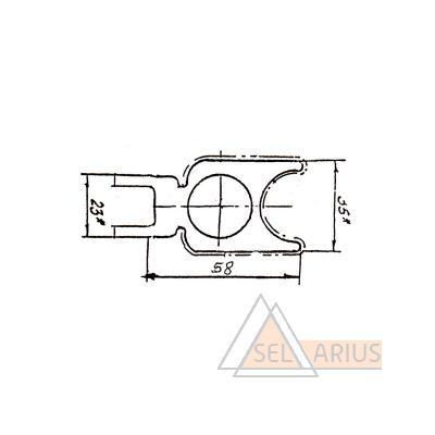 Профиль ПР-247 - габаритный чертеж