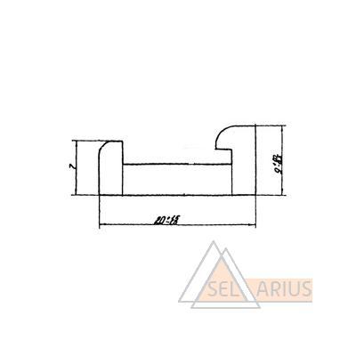 Профиль ПР-410 - габаритный чертеж