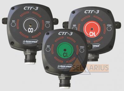 Шлейфовый газосигнализатор токсичных и горючих газов СТГ-3 фото 1