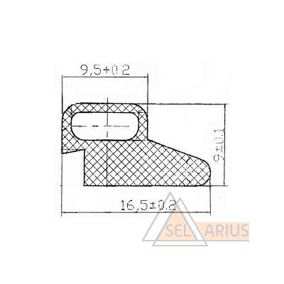 Уплотнитель Р-011-03-02 - габаритный чертеж