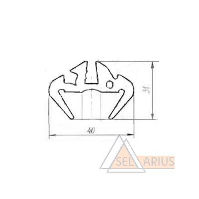 Уплотнитель Р-413 - габаритный чертеж