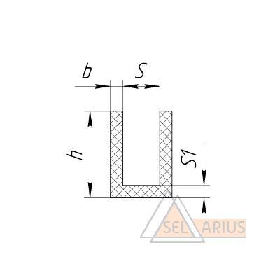 Уплотнитель тамбурных дверей - габаритный чертеж