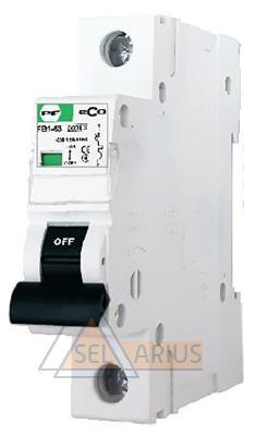 Модульный автоматический выключатель FB1-63 ECO 1P B1- фото
